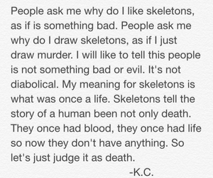 quote, skeletons, and skulls image