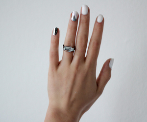 nails, white, and hand image