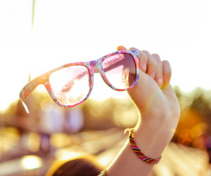 glasses, sun, and summer image