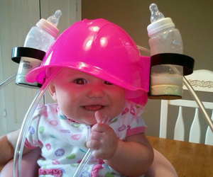 baby, fun, and pink image