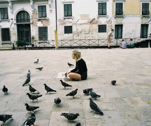 bird, girl, and indie image