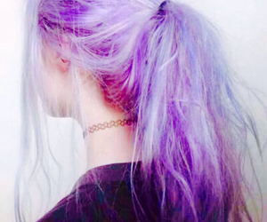 hairstyle, hair, and purple image