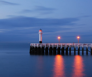 evening, lights, and meer image