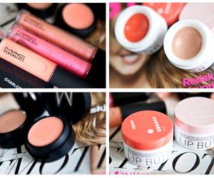 lipgloss, mac, and make up image