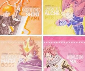 anime, bleach, and one piece image