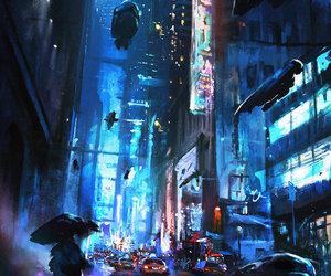 art, city, and digital art image