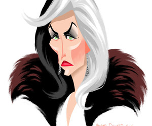 once upon a time, cruella de vil, and queens of darkness image