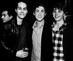 logan lerman, evan peters, and dylan o'brien image