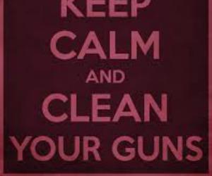 clean, guns, and bordo image