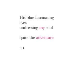 blue eyes, poem, and poetry image