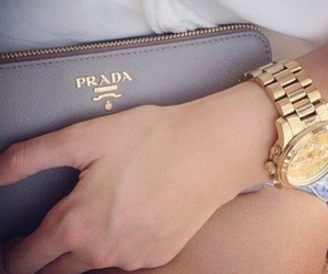 beautiful, Prada, and clock image