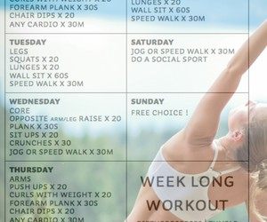 fitness, healthy, and routine image