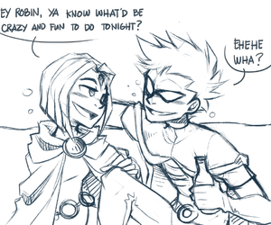 lol, raven, and robin image