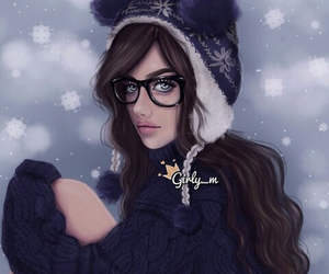 girly_m, winter, and drawing image