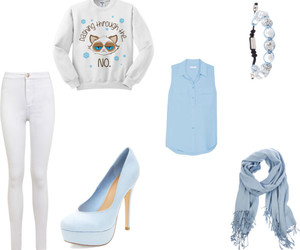 blue, cat, and clothes image