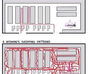 shopping, funny, and woman image