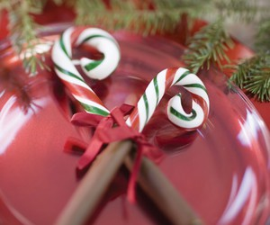 candy cane, holiday, and sweet image