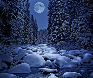 moon and snow image
