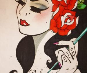 art, Pin Up, and tattoo image