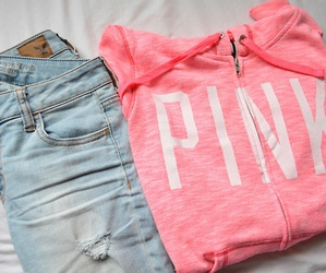 pink, fashion, and jeans image