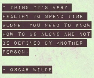 quotes, alone, and oscar wilde image