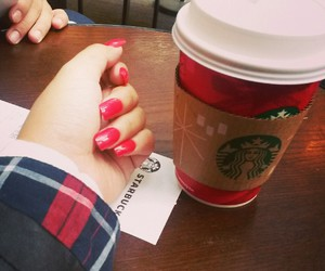 chic, coffee, and nails image