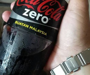 black, CK, and cocacola image