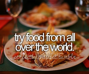 food, world, and before i die image