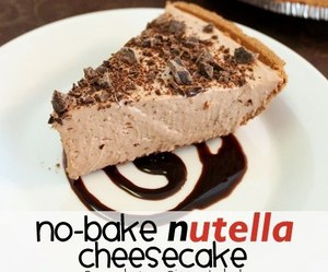 dessert, nutella, and cheesecake image