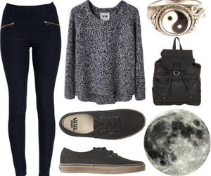 black, nice, and Polyvore image
