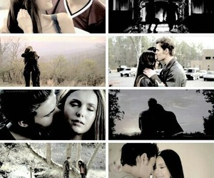 elena gilbert, tvd, and stefan salvatore image