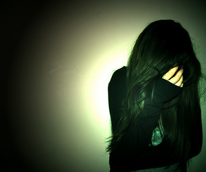 girl, hair, and alone image