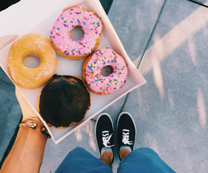 boy, donuts, and yummy image