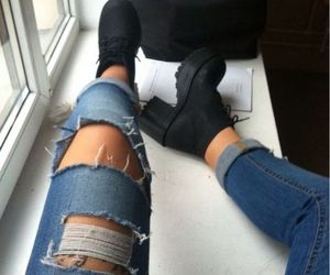 black boots, grunge girl, and chic image