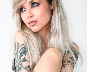 beautiful, blond, and tatto image