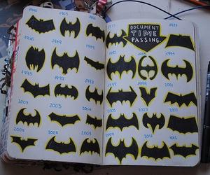 batman, wreck this journal, and bat image