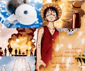 one piece, merry, and anime image