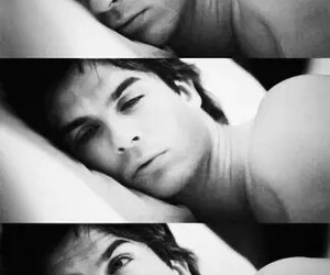 sleeping, tvd, and Hot image