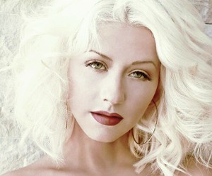 blonde and christina aguilera image