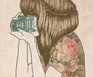 art, camera, and drawing image