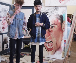 art, boys, and style image