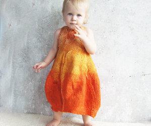 felted baby dress image