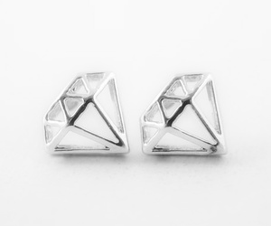 diamond, earrings, and jewelry image