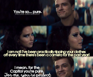 katniss, peeta, and hungergames image