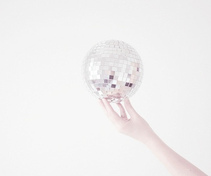 white, ball, and disco image
