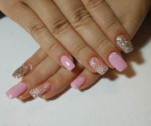pink, snow, and x-mas image