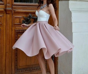 cute dress, pink, and retro image