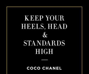 coco chanel, head, and heels image