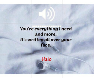 halo, quote, and true image