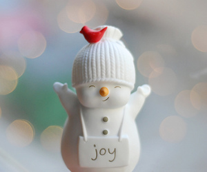 joy, snowman, and christmas image